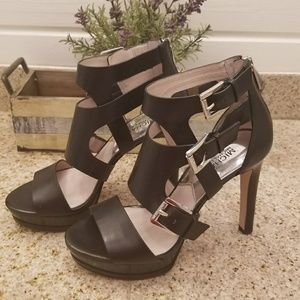 MICHAEL Michael Kors Black Leather Heels